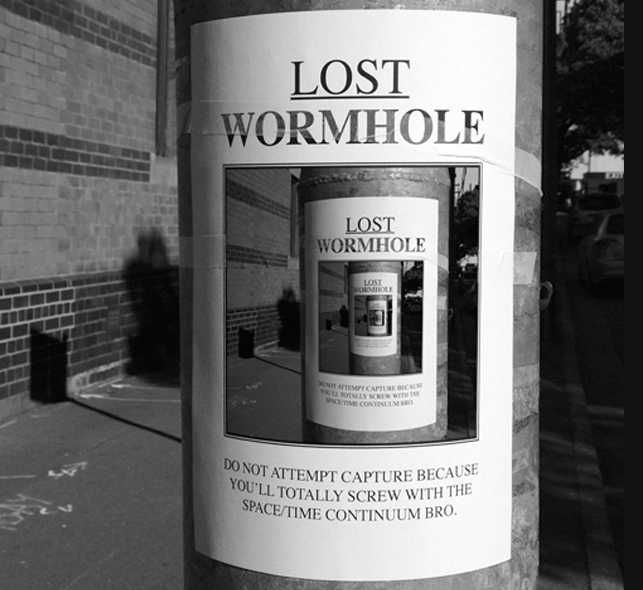 Lamppost Wormhole