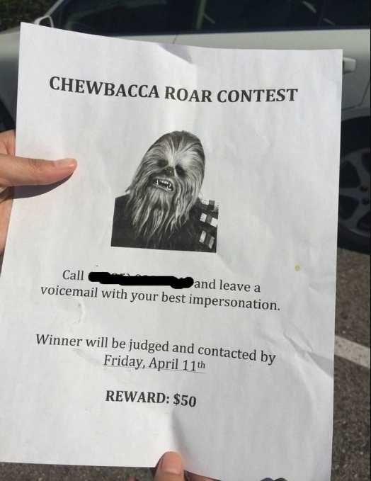 Chewbacca Roaring