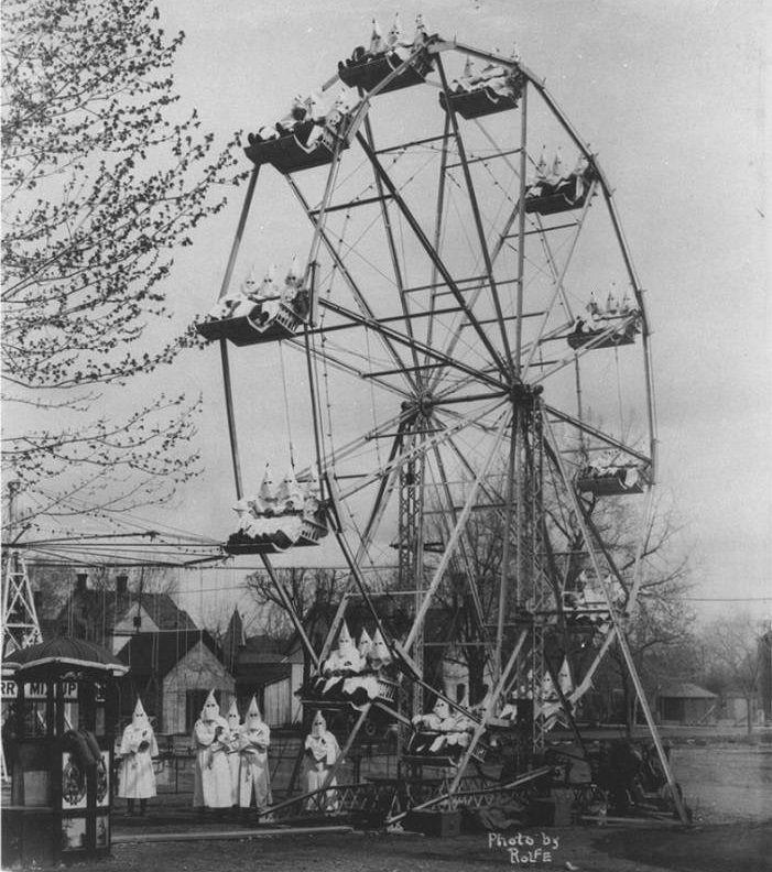 Ku Klux                                                          Klan on a                                                          ferris-wheel                                                          1925